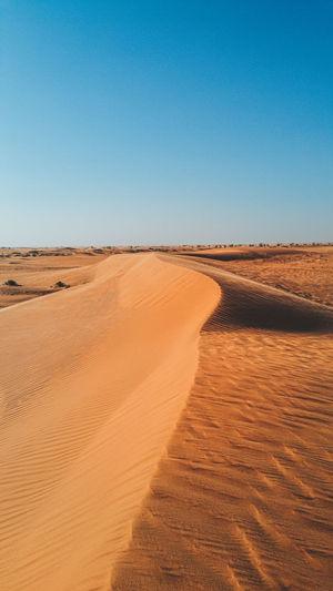 Sand dunes in desert in saudi arabia