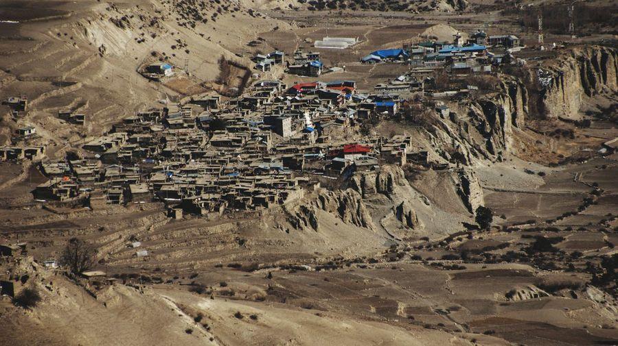 Nepal Manang Full Frame Textured  Close-up