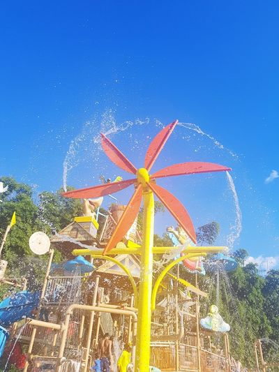 Blue Clear Sky Arts Culture And Entertainment Amusement Park Palm Tree Sky