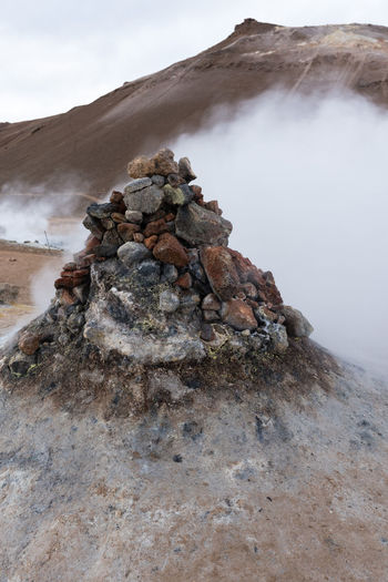 Hverir, steam vent Loud, stinky, beautiful. Just avoid the steam at all cost. Hot Hverarönd Mars Myvatn Steam Boiling Empty Geothermal  Grey Hverir Mud Orange Color Otherworldly Puddle Road Trip Rotten Egg Stink Sulfur