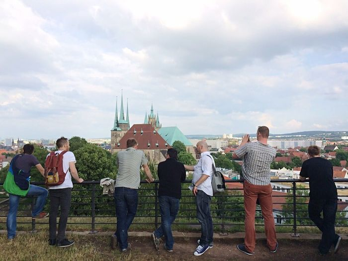 Being A Tourist and Enjoying The View of the Domplatz