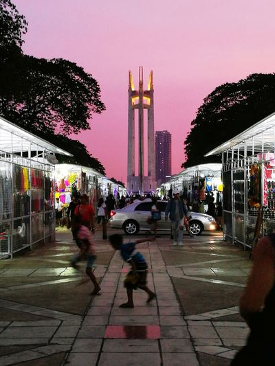 Cityscape City Park Twilight View Sky Built Structure EyeEmNewHere Car Tree Twilight Twilight Sky Trees And Sky Architecture Outdoors Night Market, Children Playing Building Building And Sky