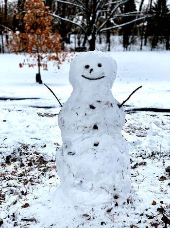 Snow Cold Temperature Winter Snowman No People Representation Nature Frozen