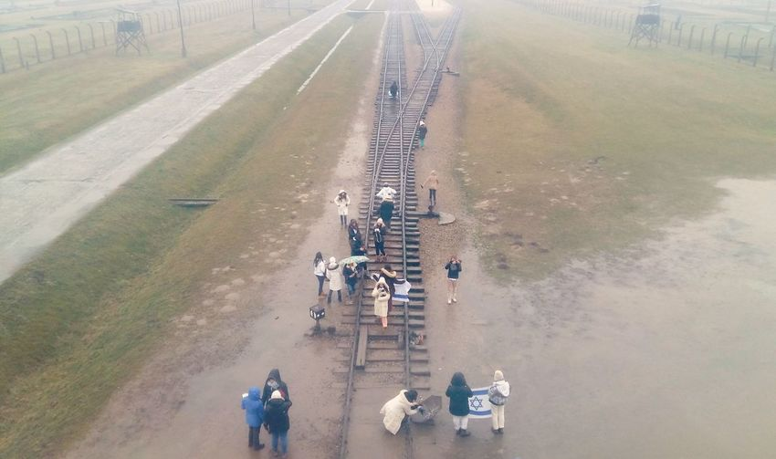 Poland Aushwitz-Birkenau Creepy Jail Redemption Jews Train Tracks Lefted people now can walk there without any fear.