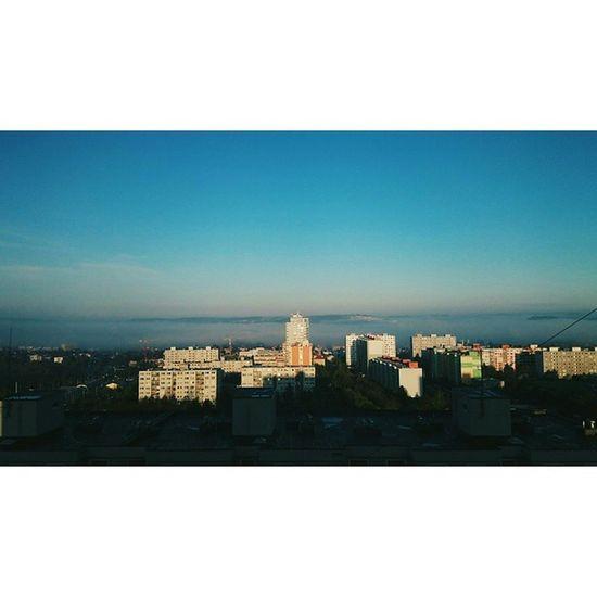 Wake up people. Morning in Prague as you've probably never seen before. 🌇 Monday Morning Feels Blueskyaction Sky Foggy Sunrise Panorama FiftyShadesOfGrey Prague Suburbia Sidliste Modřany Czech Spring April Instagood Instamood Vscocam Tagsforlike Hashtags Whatever