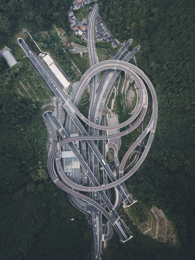junction // IG: @taromoberly High Angle View Built Structure Transportation Road Highway Aerial View Drone  Aerial Photography Traffic Intersection Busy Japan Japan Photography Travel Destinations Travel Photography
