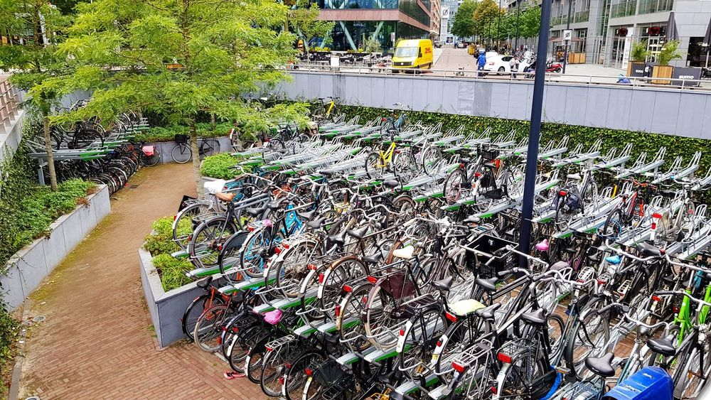 Outdoors Eye4photography  Taking Pictures Taking Photos Travel Destinations Bicycle Bicycles Bicycle Rack Bicycle Parking Parking Parking Lot Parking Area Dutch Dutch Cities Dutch Traffic Pics Dutch Tradition Transportation Transport From Above  No People Holland Fietsenstalling Fietsen Nederland Markthal