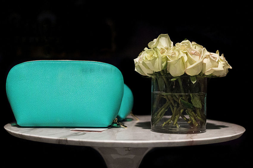 Beautiful Feminine  Teal Bag Black Background Femininity Flower Flowers Fragility Indoors  No People Petal Purse Rose - Flower Roses Still Life Table Vase Women