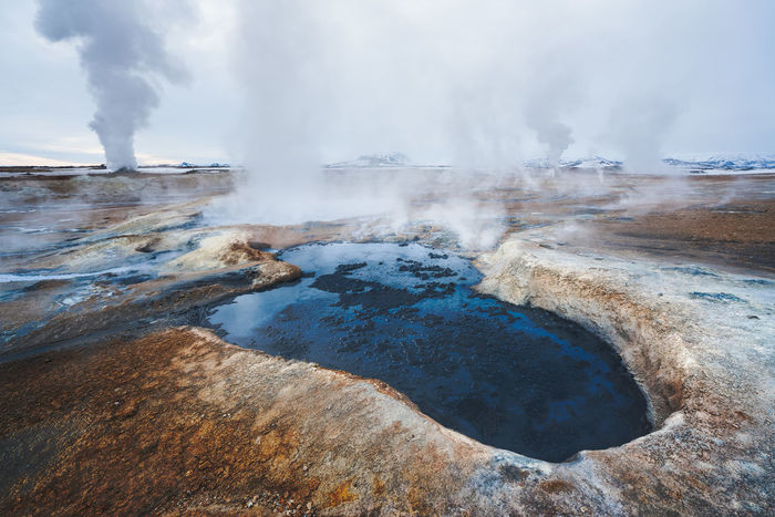 Scenic view of hot spring