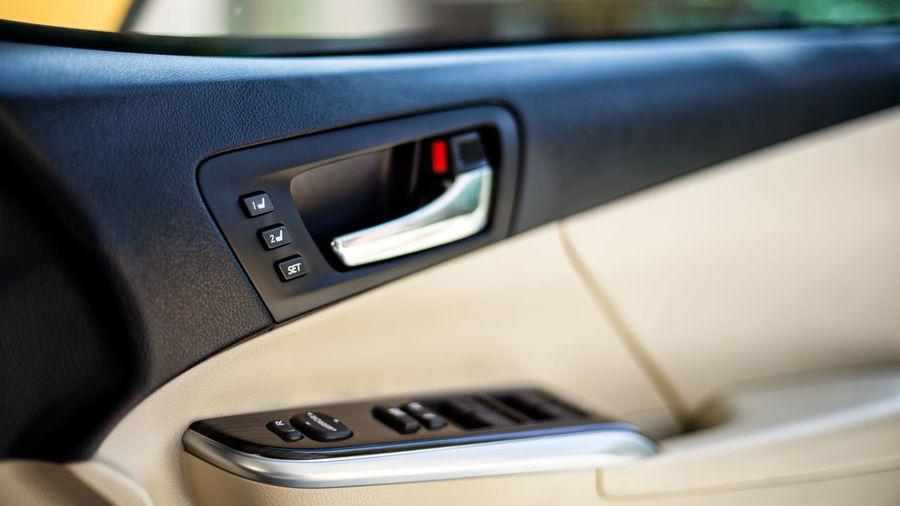Close-up of modern car