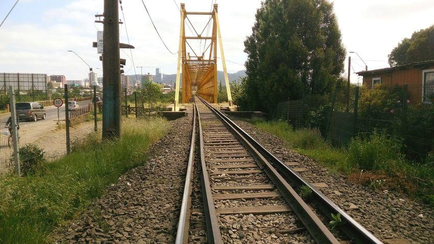 Train Ferrovia Pasadizos Imaginary Temuco Región De La Araucania