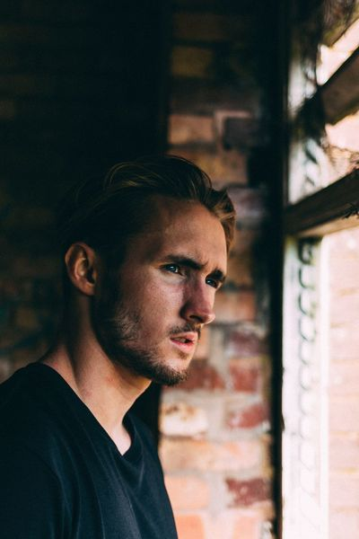 Stare Young Adult Young Men Headshot Close-up Indoors  Lifestyles Leisure Activity Home Interior Person Focus On Foreground Casual Clothing Handsome Back Lit Contemplation Profile People And Places EyeEm Best Shots Fashion