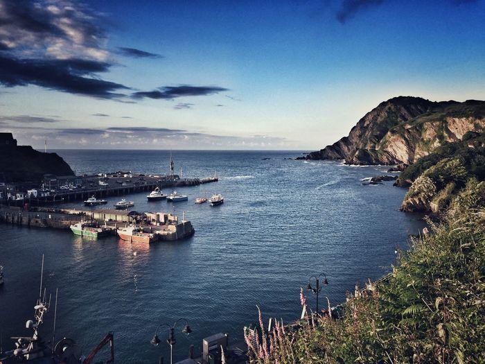 Ilfracombe Devon harbour moody seaside fishing coastal coastline coast