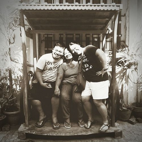 BYOPaper! Family Togetherness Bonding Adult Vacations Love Travel Talensfamily EyeEmNewHere Cheerful Happiness Enjoyment Leisure Activity Lifestyles Smiling Fun Eyeem2017 Vintage Style Eyeem Philippines Vigan City Philippines Blackandwhite Photography Black And White Collection  Black And White Portrait Ilovemyfamily❤