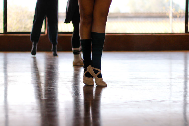 Low Section Of Women In Dance Studio