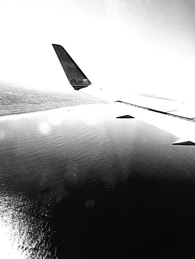 Plane Plane From An Airplane Window Black & White Memorable Enjoying Life