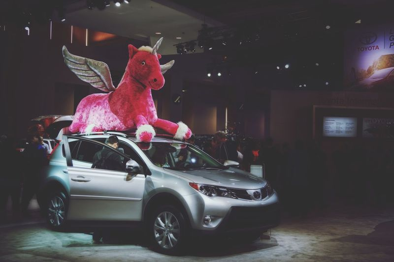 Somebody REALLY gets into their car shows Toyota Everyday Joy Unicorn Pink Pink Unicorn <33 Car Show Automobile Car CarShow Cars