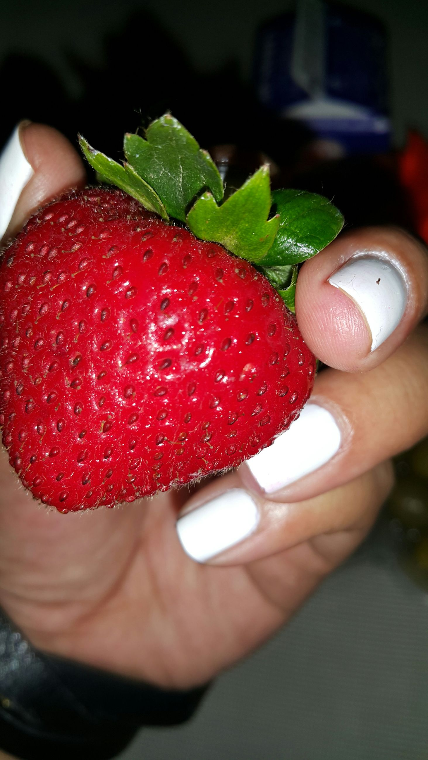 food and drink, person, holding, food, red, freshness, indoors, lifestyles, strawberry, part of, fruit, leisure activity, cropped, personal perspective, healthy eating, close-up