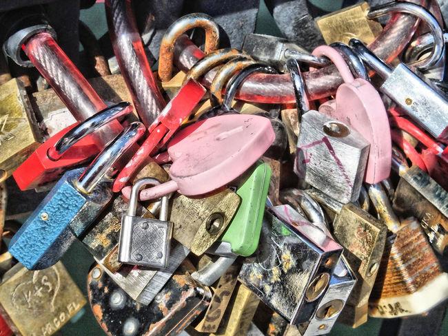 Arrangement Close-up Group Of Objects Locks Locks Of Love Man Made Object Metallic