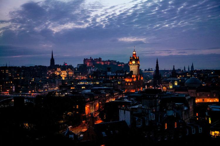 Architecture Calton Hill City Cityscape Edinburgh Edinburgh, Scotland From Above  Nightphotography Scotland City View  Monument Night Sky Street Uk