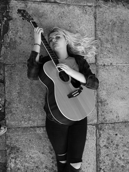 Check This Out Taking Photos Guitar Girl Guitarist Guitar Love Guitar Player Musical Instrument Musician Music Beautiful Strings Black And White TakeoverMusic
