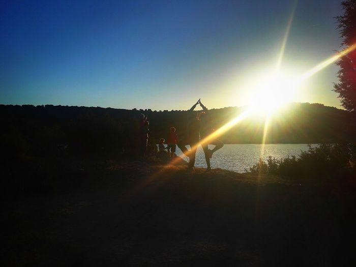 Silhouette Sky Shining Lakeside Scenics Sun Calm Tranquility Sunset The Traveler - 2018 EyeEm Awards