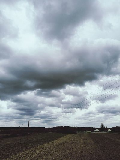 Storm Storm Cloud Thunderstorm Cloud - Sky Dramatic Sky Overcast Rain Landscape Weather Extreme Weather Cloudscape Ominous Grass Nature Tornado Sky No People Outdoors Day