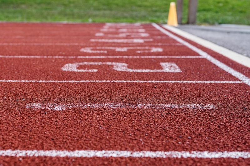 Lane one Track Running Track Sportsground Markings Minimalism Minimal First First Place  Numbers Lanes Finish Line  Track And Field Event Sports Track Sports Race Competition Stadium Sport Track And Field Stadium Sprinting Running Track Yard Line - Sport Marking Textured