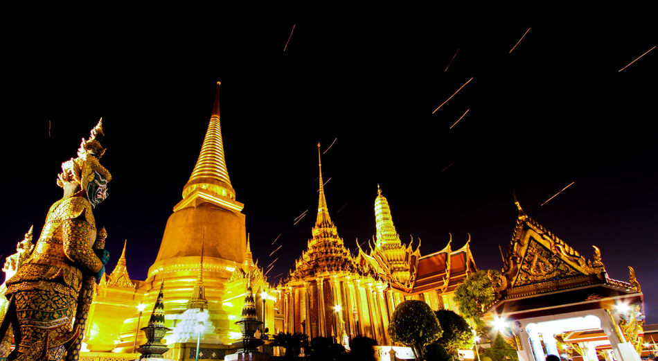 Wat Pra Kaew, on the rare occasion it's open at night Ancient Architecture Buddhism Building Exterior Built Structure Cultures Eye4photography  EyeEm Best Shots Famous Place History Night Ornate Place Of Worship Religion Spirituality Statue Taking Photos Temple Temple - Building Travel Destinations Wat Pra Kaew Cities At Night The Architect - 2016 EyeEm Awards Neighborhood Map