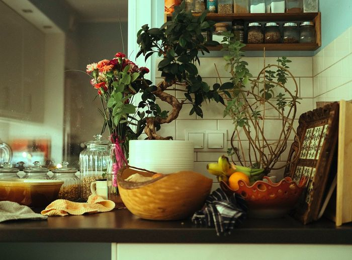 Plant No People Food And Drink Table Indoors  Potted Plant Nature Vase Flower Food Freshness Growth Flowering Plant Window Healthy Eating Decoration Fruit Architecture Day Glass