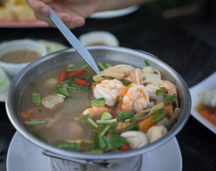 tom yam kung Bowl Close-up Food Hot Meal Shrimp Sony A7r Soup Tom Yam Kung