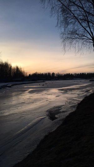Winter landscape near a little harbour.. 🌄❄️🌊🌊 Latejanuarypic Jakobstad Finland Winter Gamlahamn Snow Ice