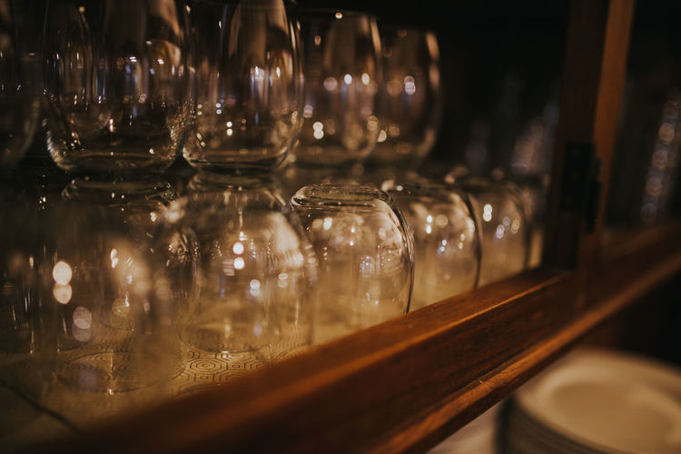 Large Group Of Objects Glass Glasses Cups Glassware Tumbler Transparent Indoors  Glass - Material No People Selective Focus Close-up Still Life Food And Drink Restaurant