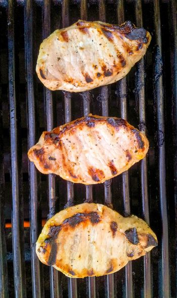 Grilled pork chops Grilledpork Grilled Pork Grilled Pork Chops BBQ Grilled Meat Grilling Food Food Photography Dinner Cook  Cooking Dinner Pork Grill Three