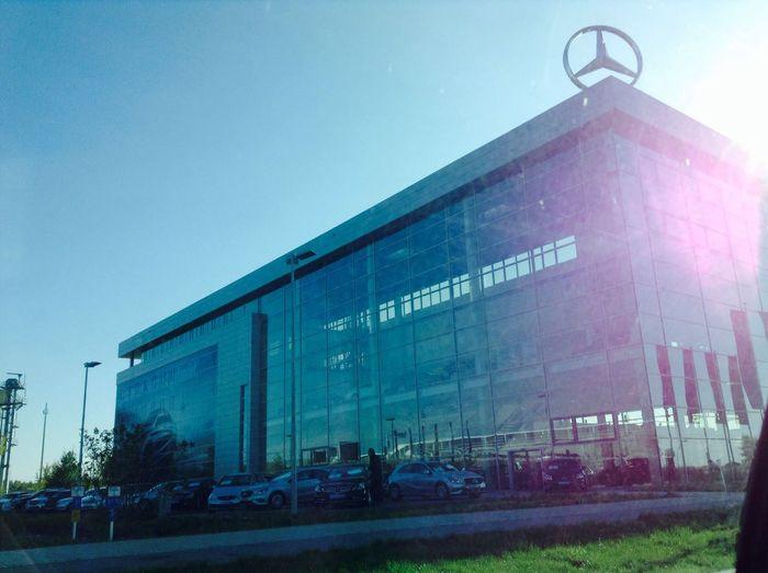 Car Nice View Mercedes Glashaus