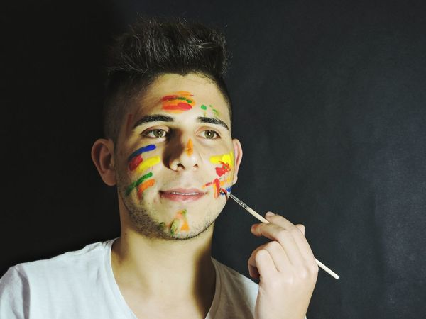 Shoot Shooting Portrait Portraitist - 2016 Eyeem Awards Colours Model Boy Guy Paint Painting