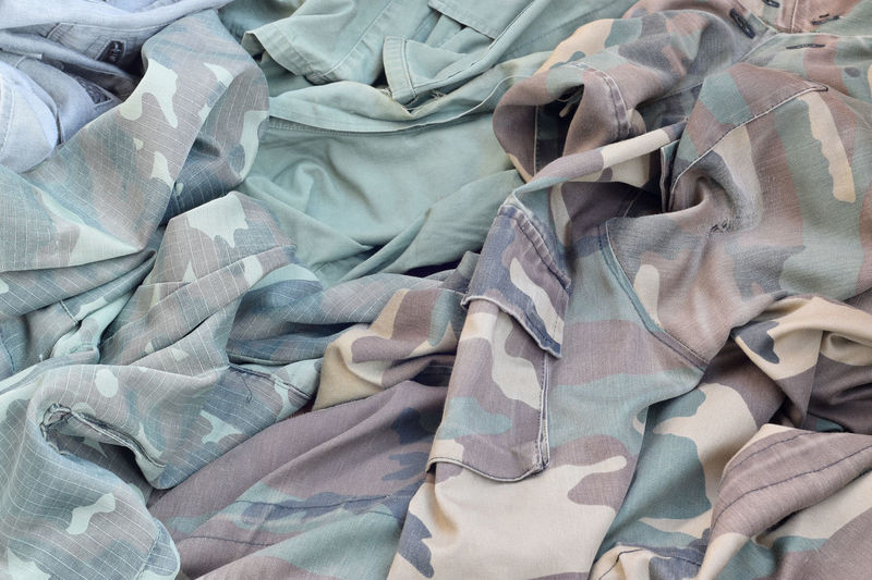 Full frame shot military uniforms