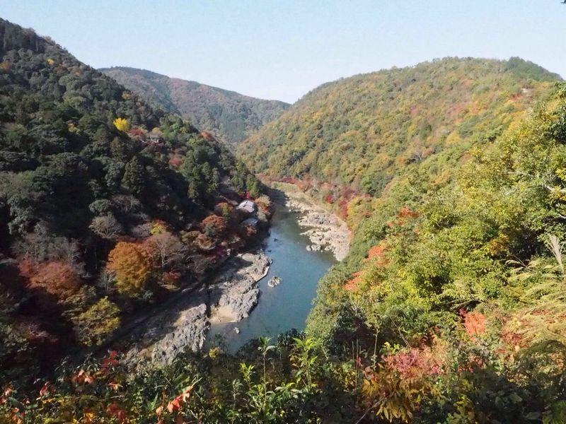 Kyoto Japan Arashiyama Nature Beauty In Nature Autumn Autumn Colors Mountain Olympus PEN-F 京都 日本 嵐山 紅葉 秋 山
