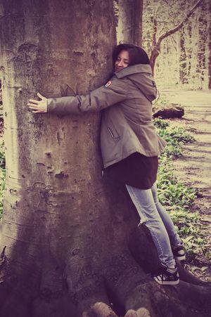 Me Myself And I Hugging A Tree Tree Hug Tree Huggers