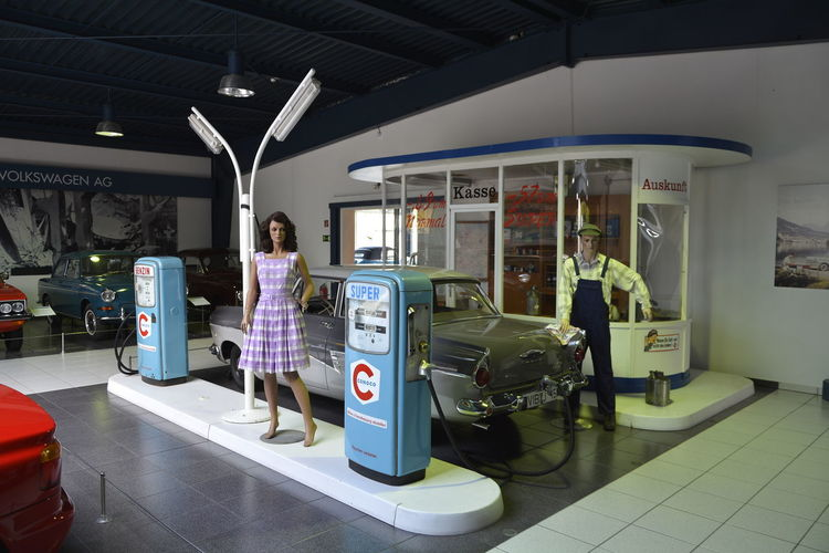 Automobilmuseum Amerang Casual Clothing Childhood Day Full Length Illuminated Indoors  Lifestyles People Public Transportation Real People Rear View Standing Transportation Two People Women