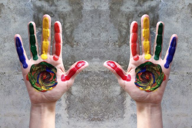 Painted hands Painted Hands Lgbt Lgbt ❤️ Lgbt Pride LGBT Rainbow EyeEmNewHere Sm Photos Palm Multi Colored Nail Polish Red Human Finger Close-up Handprint