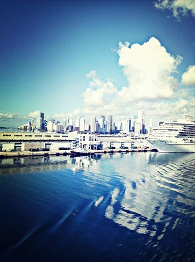 Miami Building Cruise Ship
