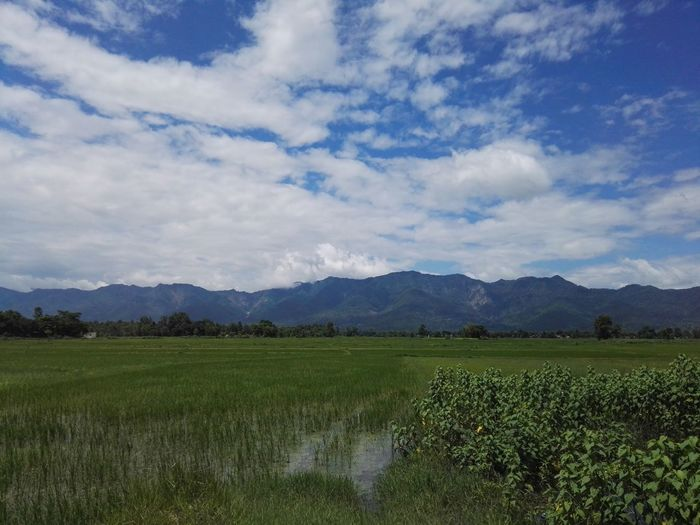 Beauty In Nature Clouds And Sky Rice Fields And Mountains Nepal #travel Nepal Travel Outdoors Nature