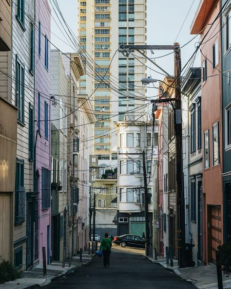 Alleyway in China Town. Architecture City Street Walking Residential Structure Residential Building City Life Apartment Residential District SF Bay Area California Sanfrancisco San Francisco, California