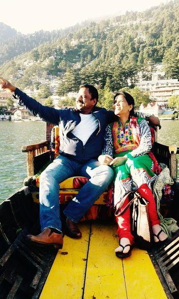 Natural Light Portrait Nanital Northindia Boating Lake Sunpoint Hillside Hillstation Parents Joy Adventure