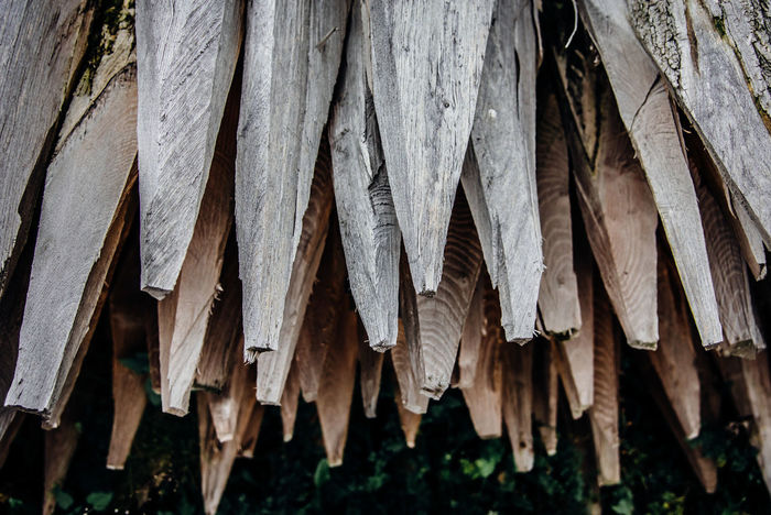 Stack No People Roof Close-up Day Outdoors In A Row Wood Wood - Material Stake Pile Spike Post Pole Woodpile
