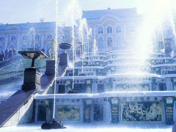 Russia Saint Petersburg Petergof Fontain City View