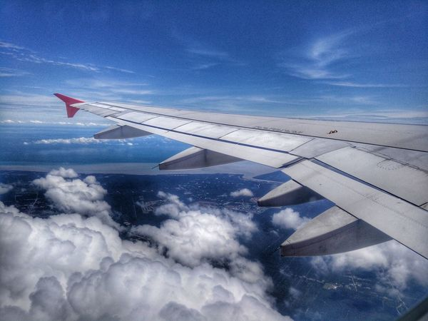ByeeeeAirplane Cloud - Sky Flying Transportation Air Vehicle Mid-air Blue Aerial View Sky Aircraft Wing Technology Day Outdoors No People Nature Eyeme Best Shot EyeEm Gallery EyeEm Best Shots OPPO OppoFind7a Sunlight Travel