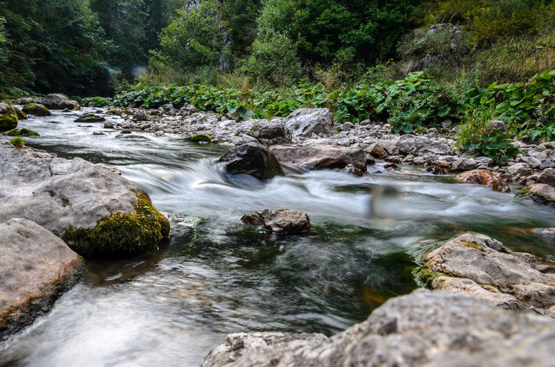 Long Exposure Mountain River Nature River Rock Romania Water