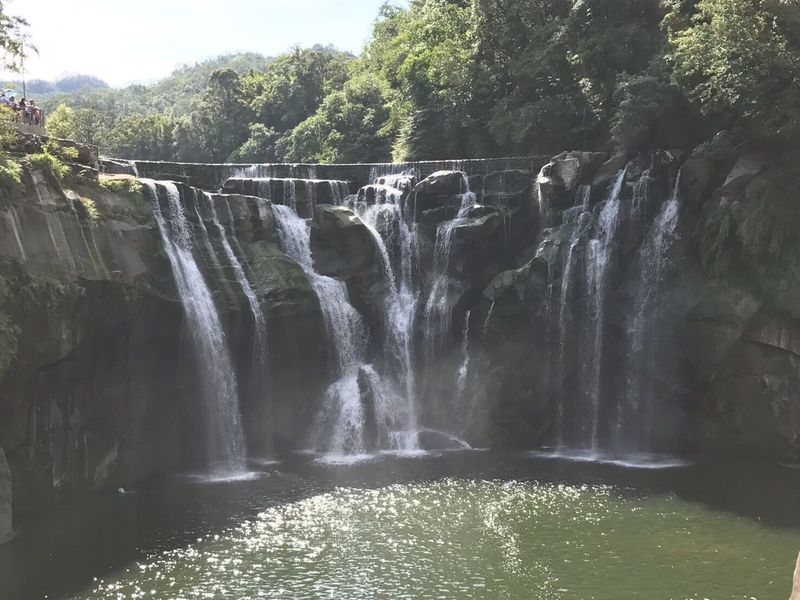 Waterfall Water Beauty In Nature Tree River Outdoors Motion Nature Shifen Waterfalls Taiwan